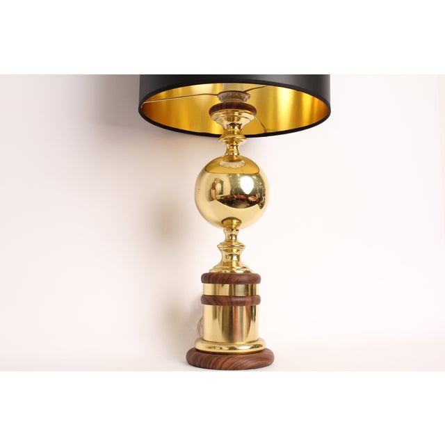 Vintage Mid-Century Gold Metal Table Lamp - Image 5 of 6
