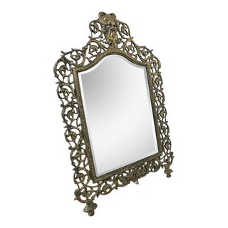 Antique Bevel Edge Vanity Mirror For Sale