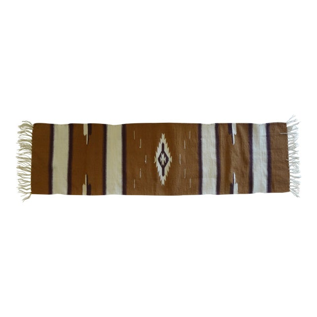 Hand Woven Chimayo Wool Runner - 1′6″ × 5′3″ - Image 1 of 6