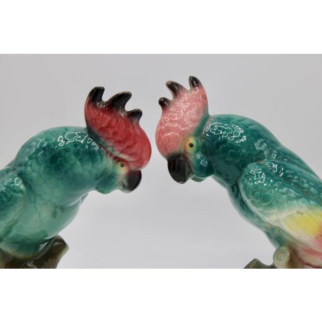 Vintage Royal Copley Ceramic Cockatoo Parrot Bird Figurines For Sale - Image 4 of 13