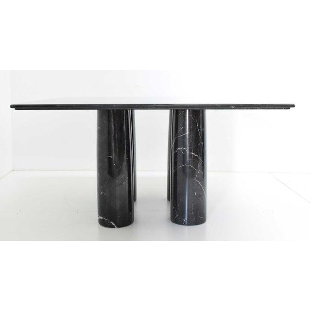 Mario Bellini Il Colonnato Black Marble Table For Sale In Dallas - Image 6 of 13