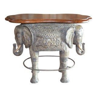 1990s Asian Modern Elephant Bar Table For Sale