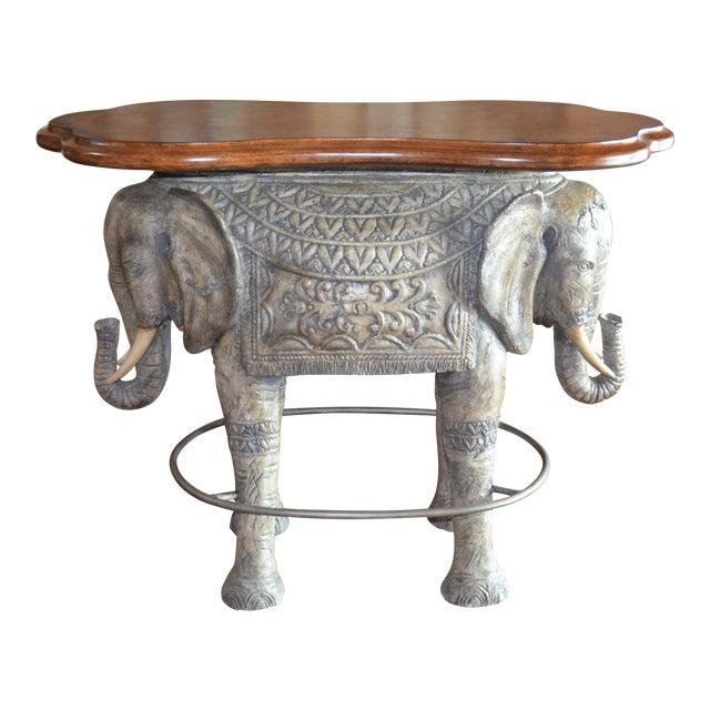 1990s Asian Modern Elephant Bar Table For Sale