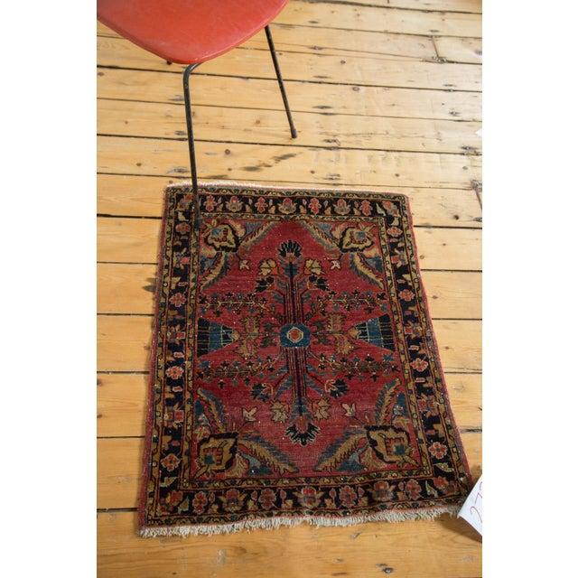 "Vintage Persian Sarouk Rug Mat - 2'3"" X 2'9"" - Image 3 of 7"