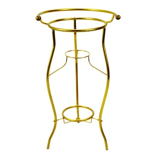 Vintage Brass Wash Basin Stand 3 Tier Plant Stand