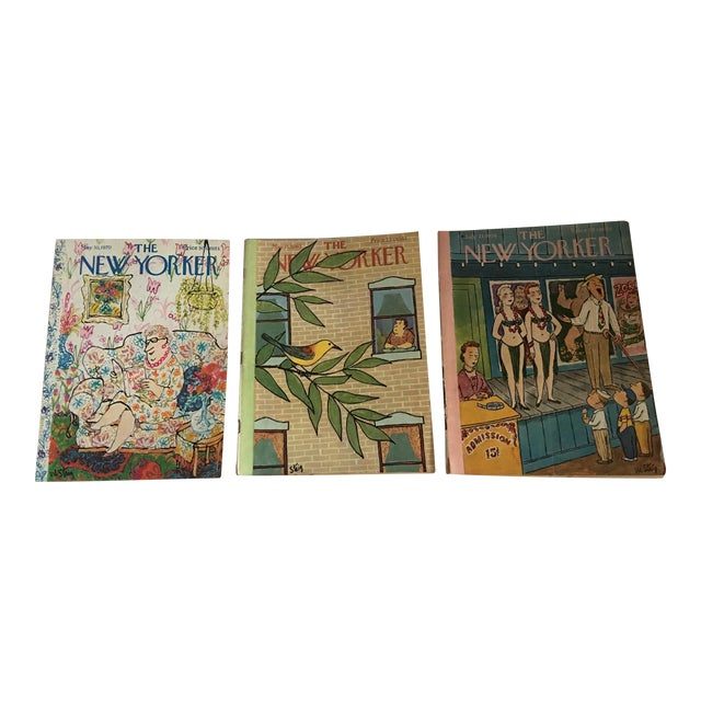1956, 1963 & 1970 New Yorker Magazines With Steig Covers - Set of 3 - Image 1 of 11
