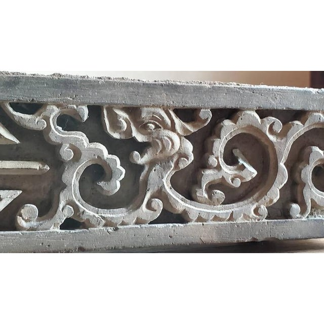 Antique Asian Temple Architectural Relief Carved Stone Frieze Panel For Sale In Austin - Image 6 of 13