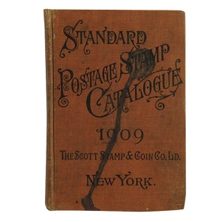 1909 Postage Stamp Catalogue Book