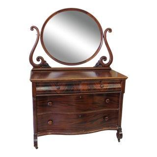 1910 Vintage John Widdicomb Mirror Dresser Table