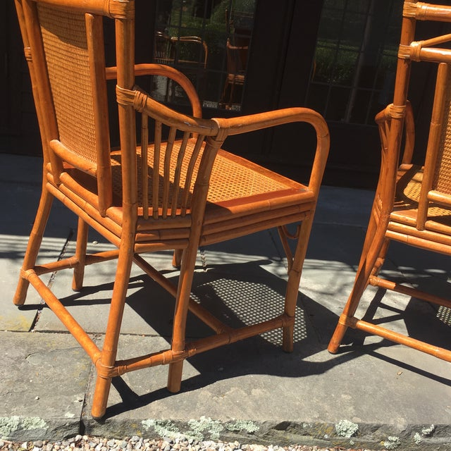 Palecek Cane Seat Armchairs - a Pair For Sale In Boston - Image 6 of 11