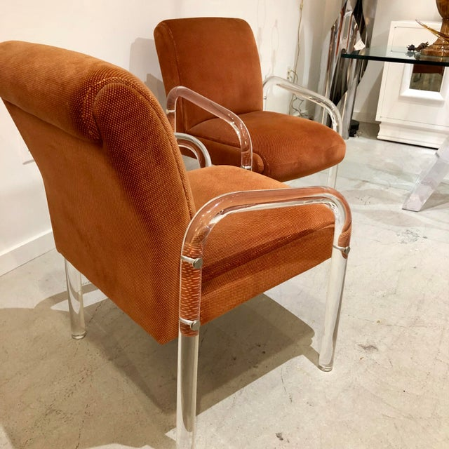 1970s Lucite Armchairs by Lion in Frost. America, C. 1970s - a Pair For Sale - Image 5 of 13