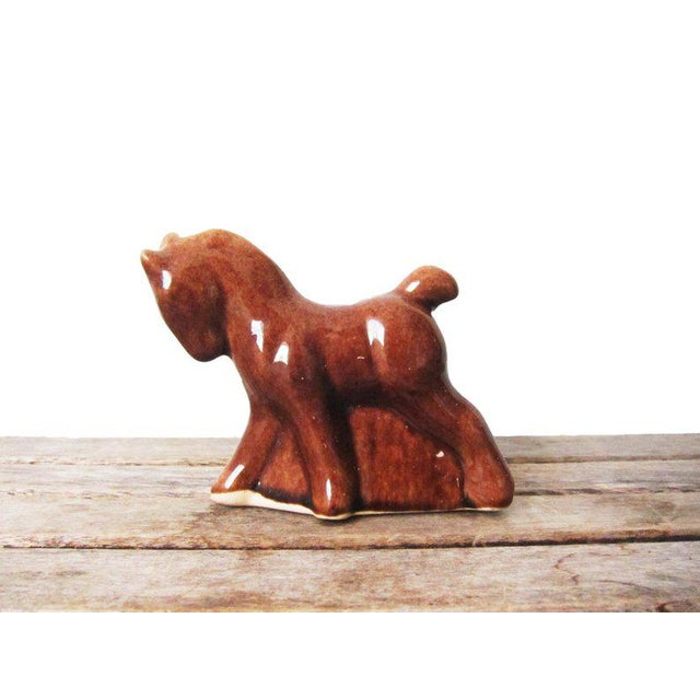 Brown Vintage Mid Century Horse Planter For Sale - Image 8 of 8