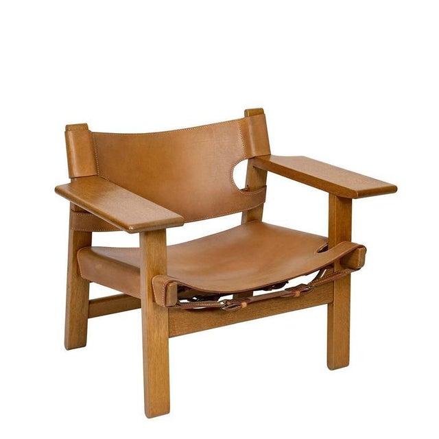 "Børge Mogensen Pair of Børge Mogensen ""Spanish"" Chairs For Sale - Image 4 of 10"