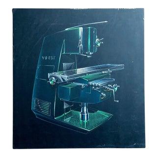 1960s Original Mid Century Modern Industrial Artwork by Claus Otto Huckenbeck For Sale
