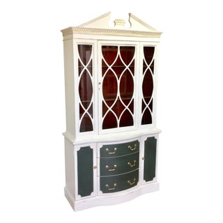 1930s Federal China Cabinet For Sale