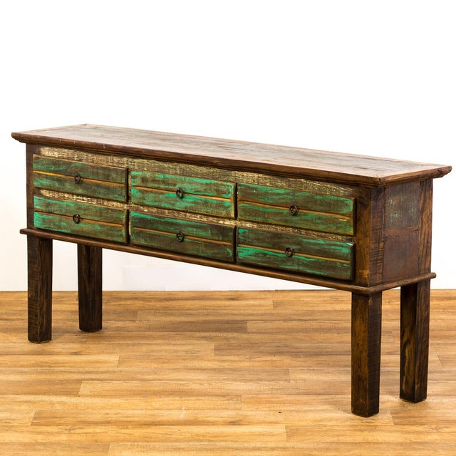 Antique Peroba Wood Console Table - Image 3 of 5