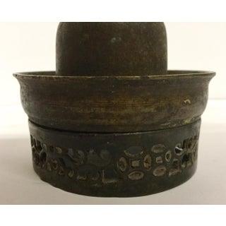 Antique Bronze & Glass Oil Lantern Preview