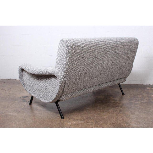 """Textile Marco Zanuso """"Lady"""" Settee For Sale - Image 7 of 8"""
