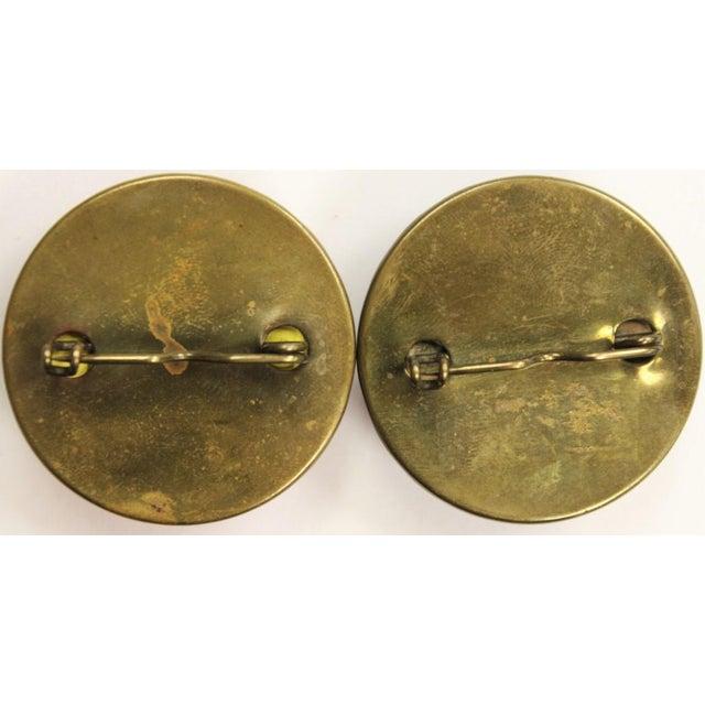 "Red & Blue ""Jockey Cap"" Brass Harness Buttons - A Pair - Image 5 of 5"