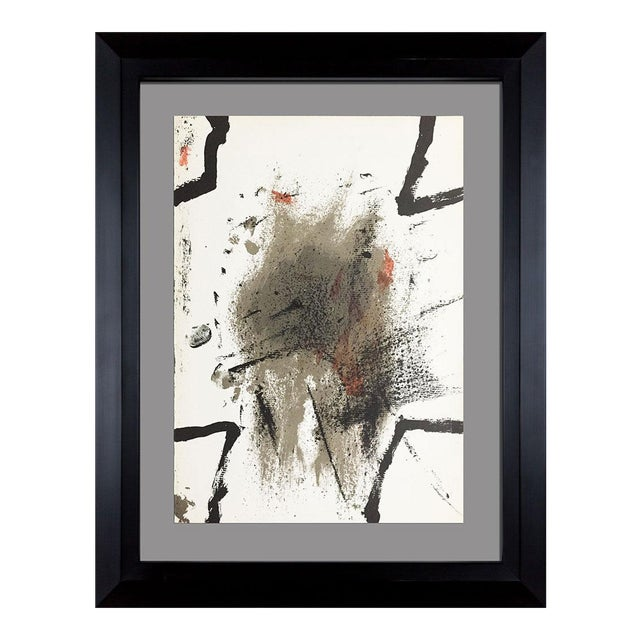 1969 Antoni Tapies Original Limited Edition Lithograph For Sale