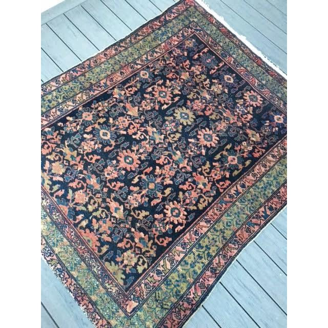 "Antique Persian Hamadan Rug - 5'4"" X 6' - Image 7 of 10"