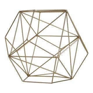 Brass Wire Modern Sculpture