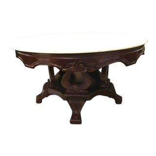 Gorgeous Victorian Round Italian Made Marble Top Center Coffee Table/Reduced For Sale