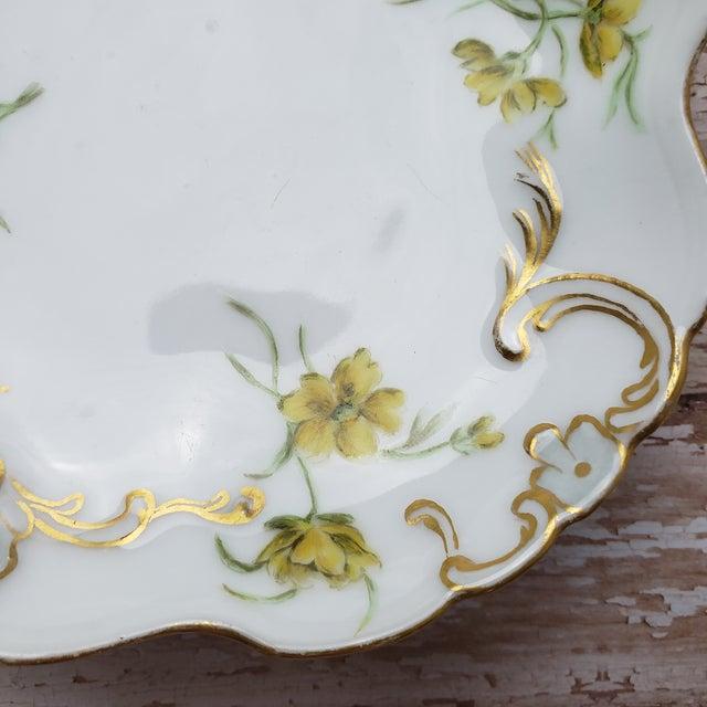 Art Nouveau Jean Pouyat Limoges Porcelain Trinket Dish For Sale - Image 3 of 10