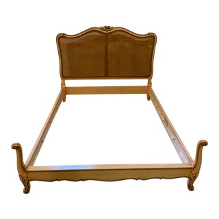 French Karges Caned Bedframe For Sale