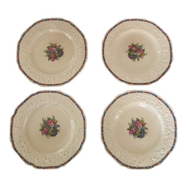 Crown Ducal Dinner Plates - Set of 4 For Sale