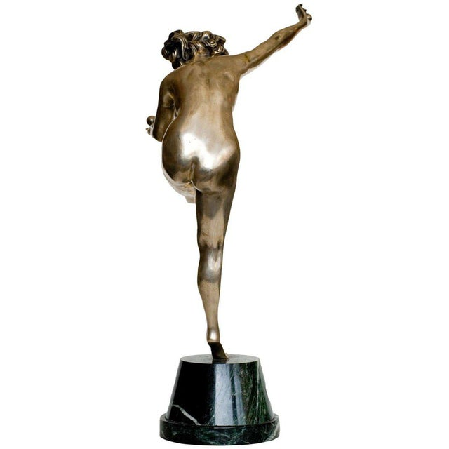 French Art Deco Bronze Figure 'Trickstress' by CJR Colinet For Sale - Image 5 of 8