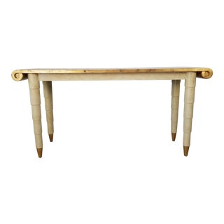 Italian Hollywood Regency Gold- Leaf Console Table For Sale
