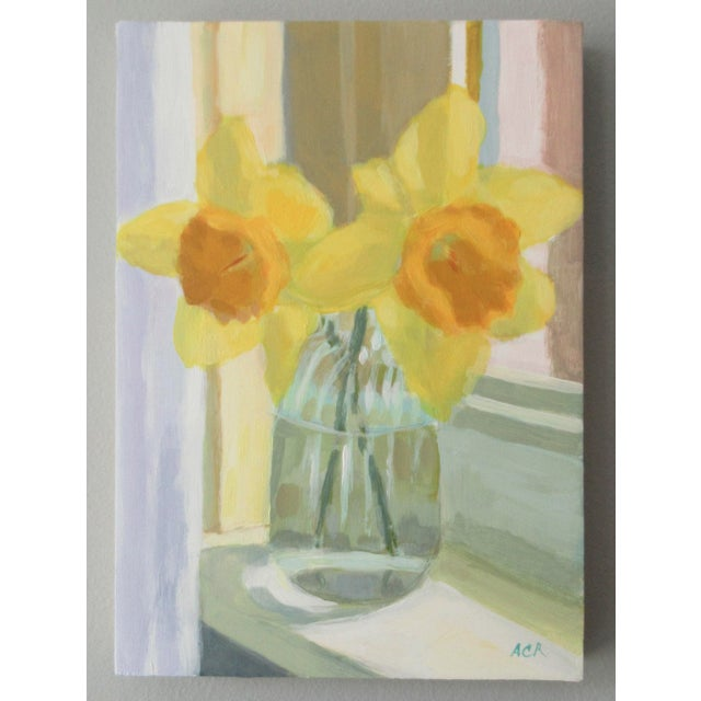 2020s Daffodil on the Windowsill by Anne Carrozza Remick For Sale - Image 5 of 7