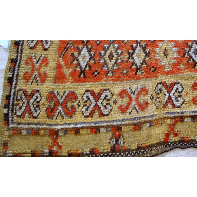 Islamic 1900s Handmade Antique Moroccan Berber Rug 4' X 7.6' For Sale - Image 3 of 11