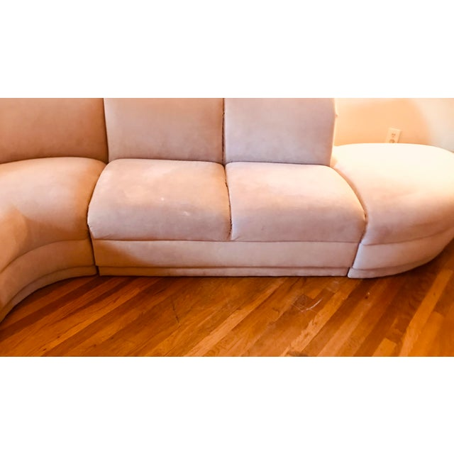 Weiman Blush Serpentine Sectional Sofa by Vladimir Kagan for Weiman For Sale - Image 4 of 12