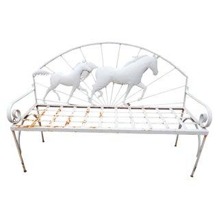 Vintage Horse Bench For Sale