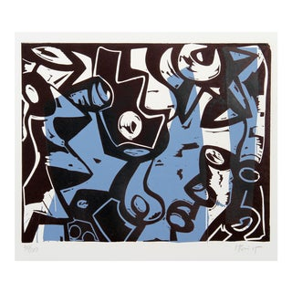 Charlie Hewitt, L, Woodblock For Sale
