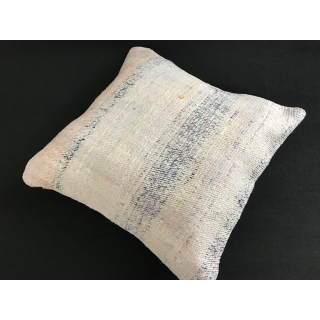 Turkish Turkish Kilim Wool Handwoven Pillow Cover For Sale - Image 3 of 6