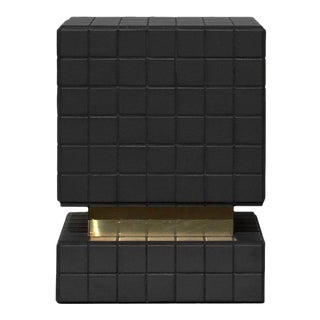 BT II Tiled Side Table in Ceramic and Brass by Nima Abili