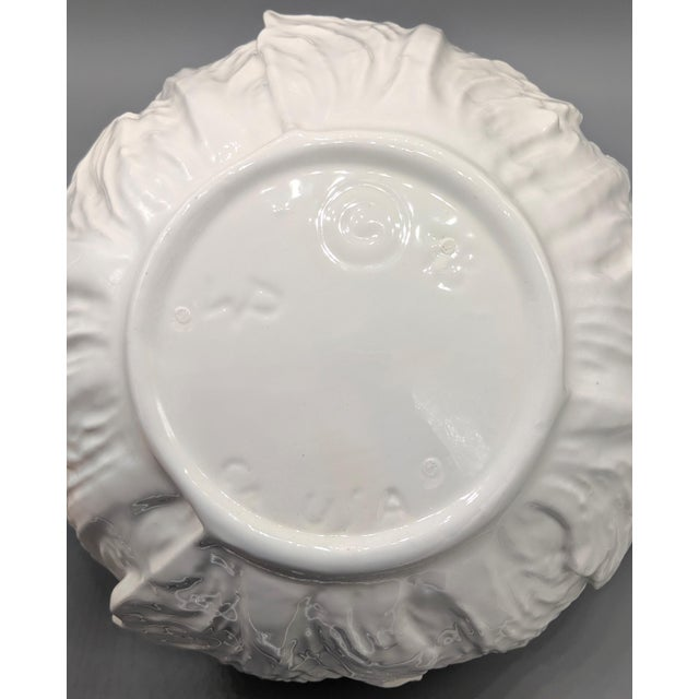 White Large Mid-Century White Cabbage Soup Tureen With Ladle and Underplate - 4 Pieces For Sale - Image 8 of 10