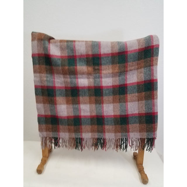 Wool Throw Green, Red, Brown in a Check Design - Made in England A versatile throw in a check design. The colors are...