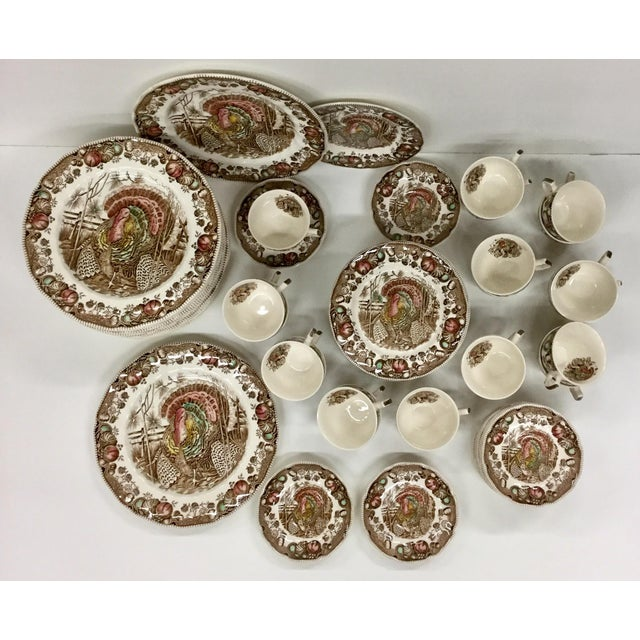 Johnson Bros His Majesty Turkey Dinnerware - Set of 71 For Sale - Image 13 of 13