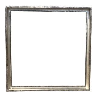 White Gold Gilded Modern Frame, 1980s For Sale