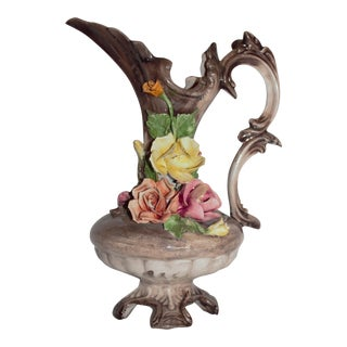 Vintage Capodimonte Pitcher Vase For Sale