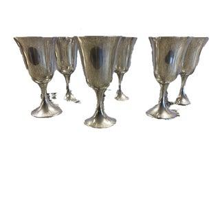 1970s Gorham Sterling Goblets - Set of 6 For Sale