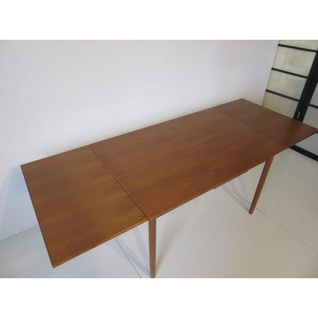 Danish Modern Extendable Teak Dining Table For Sale In Cincinnati - Image 6 of 8