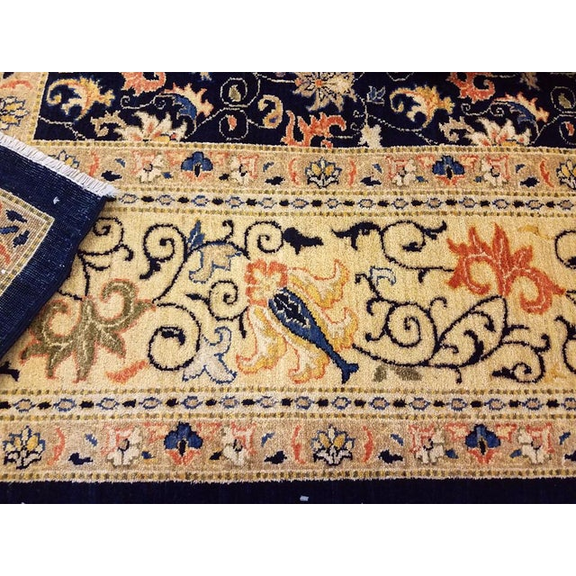 "Kafkaz Peshawar Betsy Blue & Gold Wool Rug - 9'10"" x 13'6"" For Sale In New York - Image 6 of 7"