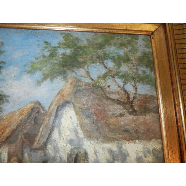 Traditional Early 20th Century Antique Argentinian Rural Scene Oil on Canvas Painting For Sale - Image 3 of 8