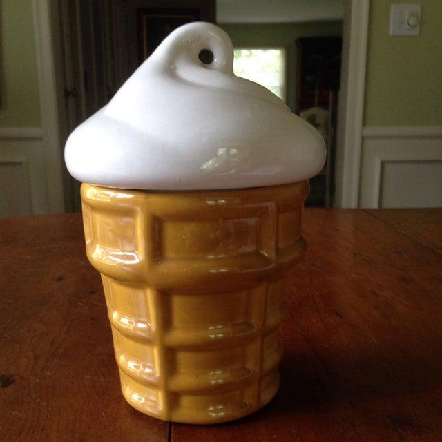 Vintage Ice Cream Cone Cookie Jar - Image 11 of 11