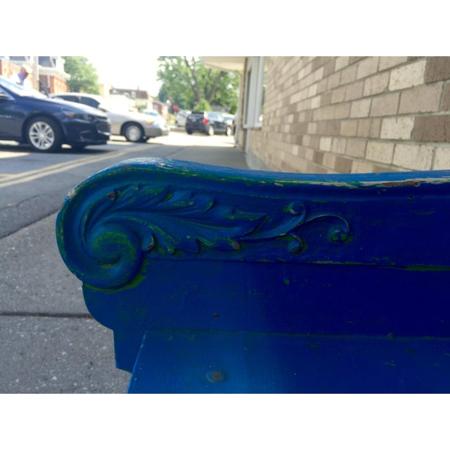 Blue Bohemian Deacon's Bench - Image 4 of 6